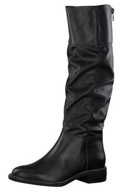Tamaris Damen Elegante Stiefel 1-25533-25 Schwarz 001 BLACK Leder/Synthetik mit Removable Sock – Bild 1