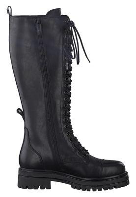 Tamaris Damen Elegante Stiefel Schnürstiefel 1-25607-25 Schwarz 001 BLACK Leder mit TOUCH-IT – Bild 5