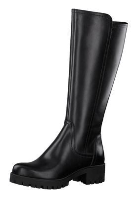 Tamaris Damen Elegante Stiefel 1-25615-25 Schwarz 001 BLACK Leder – Bild 1