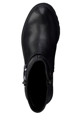 Tamaris Damen Elegante Stiefelette 1-25907-25 Schwarz 001 BLACK Leder/Synthetik mit Removable Sock – Bild 3