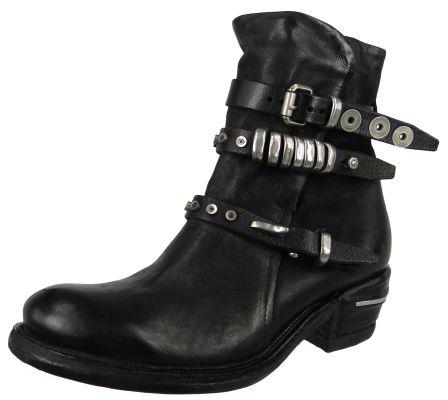 A.S. 98 Damen Elegante Stiefelette Ignix 512217-0101-6002 Schwarz  Nero Leder – Bild 1