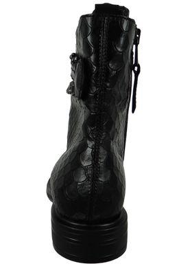 Mjus Damen Elegante Stiefelette CAFE 8307 M64204-0301-6002 Schwarz  Nero Lack – Bild 4