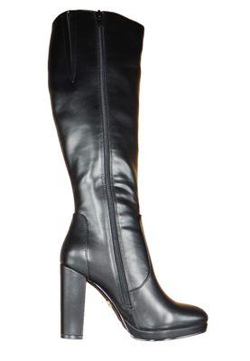 Buffalo Damen Elegante Stiefel Marie 1220012 Schwarz  Black Leder – Bild 4