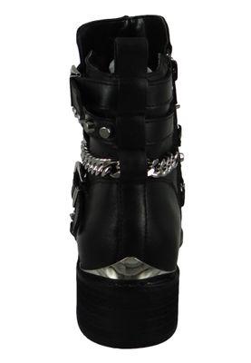 Buffalo Damen Elegante Stiefelette Mylo 1171069 Schwarz  Black Leder – Bild 4