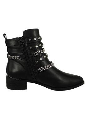 Buffalo Damen Elegante Stiefelette Mylo 1171069 Schwarz  Black Leder – Bild 5
