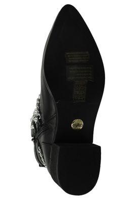 Buffalo Damen Elegante Stiefelette Mylo 1171069 Schwarz  Black Leder – Bild 7
