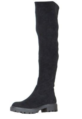 Buffalo Damen Elegante Stiefel Mireya 1210014 Schwarz  Black Leder – Bild 1