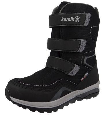 Kamik Chinook HI Waterproof DriDefense NF4080 Kinder Stiefel   Winterschuhe Leder Schwarz BLK Black – Bild 1