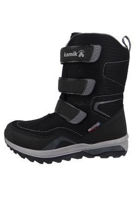 Kamik Chinook HI Waterproof DriDefense NF4080 Kinder Stiefel   Winterschuhe Leder Schwarz BLK Black – Bild 6