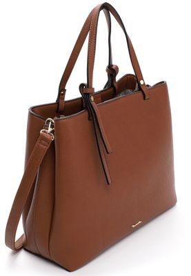 Tamaris Schultertasche Handtasche  Brooke 30674 Braun 700 cognac Kunstleder L= 15 cm H= 15 cm W= 27,5 cm – Bild 2