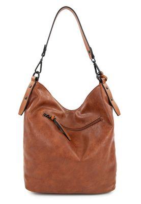 Tamaris Schultertasche Handtasche  Barbara 30752 Braun 700 cognac Kunstleder L= 16 cm H= 16 cm W= 32 cm – Bild 3