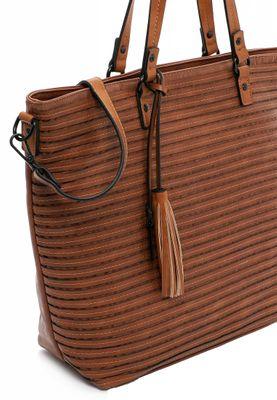 Tamaris Shopperbag Handtasche  Barbara 30753 Braun 700 cognac Kunstleder L= 14,5 cm H= 14,5 cm W= 33 cm – Bild 4