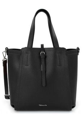 Tamaris Shopperbag Handtasche  Bruna 30780 Schwarz 100 black Kunstleder L= 15 cm H= 15 cm W= 28 cm – Bild 1