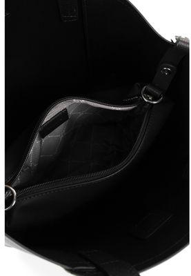 Tamaris Shopperbag Handtasche  Bruna 30780 Schwarz 100 black Kunstleder L= 15 cm H= 15 cm W= 28 cm – Bild 4