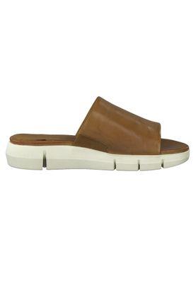 Tamaris Damen Komfort Sandalen Sandaletten 1-27131-34 Braun 305 cognac Leder und Textil mit Leather Sock & TOUCH-IT – Bild 4
