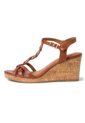 Tamaris Damen  Sandalen Sandaletten 1-28071-34 Braun 306 Brandy Leder mit Leather Sock & TOUCH-IT – Bild 3