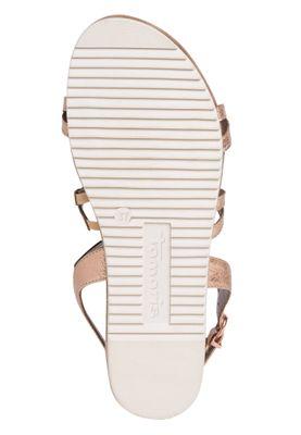 Tamaris Damen Komfort Sandalen Sandaletten 1-28103-24 Beige 978 Cooper Crack Textil mit TOUCH-IT – Bild 4