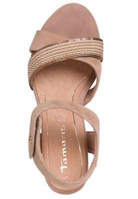 Tamaris Damen  Sandalen Sandaletten 1-28350-24 Rosa 558 Old Rose Leder mit Leather Sock & TOUCH-IT – Bild 5