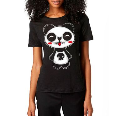 Dark World Girlie T-Shirt Dark Panda Schwarz S  – Bild 1