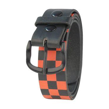 70161-142 Gürtel - schwarz/rot – Bild 1