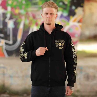Billy Eight Kapuzenjacke Unisex Rock until the Bones Logo