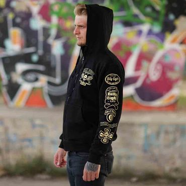 Billy Eight Kapuzenjacke Unisex Rock until the Bones Logo – Bild 2