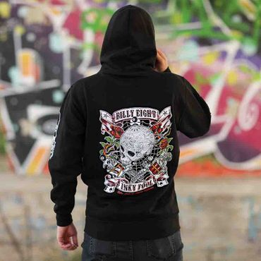 Billy Eight Kapuzenjacke Unisex Inky Fool Logo