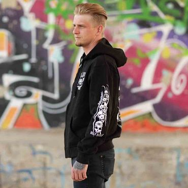 Billy Eight Kapuzenjacke Black Baron Logo – Bild 3