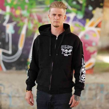 Billy Eight Kapuzenjacke Black Baron Logo – Bild 2