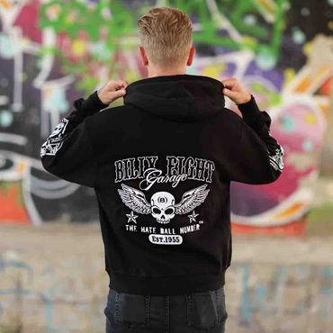 Billy Eight Kapuzenjacke Unisex Garage Logo – Bild 2