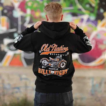 Billy Eight Kapuzenjacke Unisex Old Native Motorcycle Logo – Bild 3