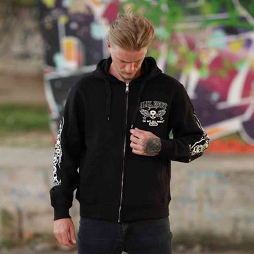 Billy Eight Kapuzenjacke Unisex Black Baron Logo