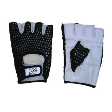 Leder Netz Handschuhe für Biker