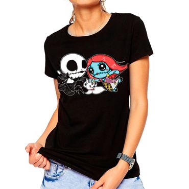 Dark World - Girlie T-Shirt Jack Family Schwarz S  – Bild 1