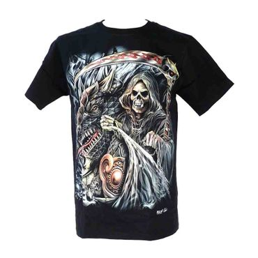Wild - Dragon Skull Metal Head T-Shirt 4D M  – Bild 1