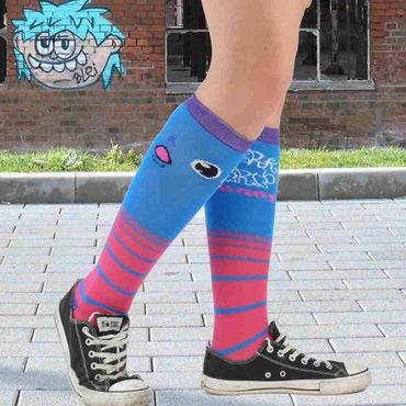 Dark World Blauer Monster Socken – Bild 2