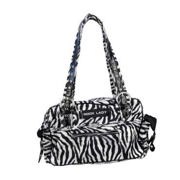 Zebra Fell Corsagen Handtasche – Bild 2