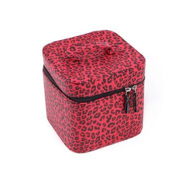 Leopard Kosmetik Handtasche – Bild 1