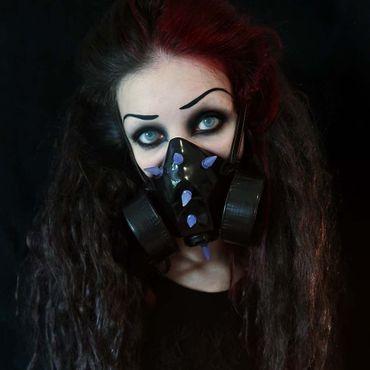 Gasmaske mit UV Spikes – Bild 1
