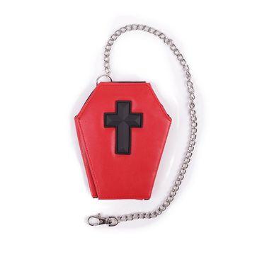 Sarg Geldbörse Kreuz Schwarz – Bild 1