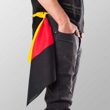Bandana Halstuch  Multicolor Deutschland Flagge 55 cm x 55 cm – Bild 1