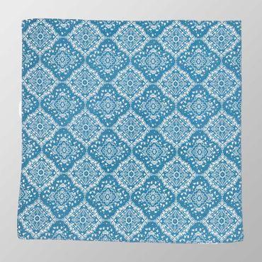 Bandana Halstuch  Blau Paisley 55 cm x 55 cm – Bild 2