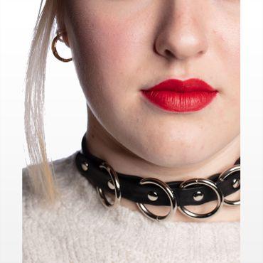 Fetisch  Fetisch Halsband mit Ringen  – Bild 1