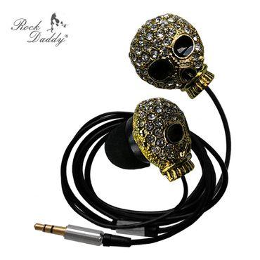 Ohrhörer mit Strass Totenkopf