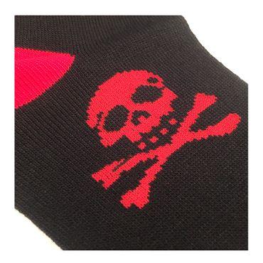 Rote Jolly Roger Totenkopf Socken Socken  Schwarz Rot  Piraten Totenkopf  Unisize – Bild 3