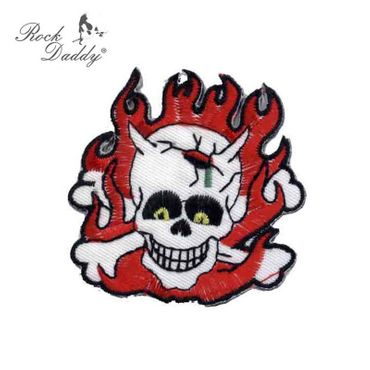Flammen Skull Patch