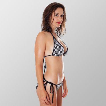 Skull Schachbrett Bikini