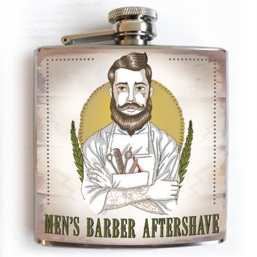 Mens Barber Flachmann Aftershave