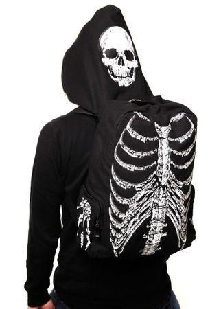 Rucksack-Skelett Design schwarz-weiß
