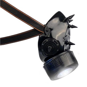 Gasmaske mit UV Spikes und LED Licht – Bild 2